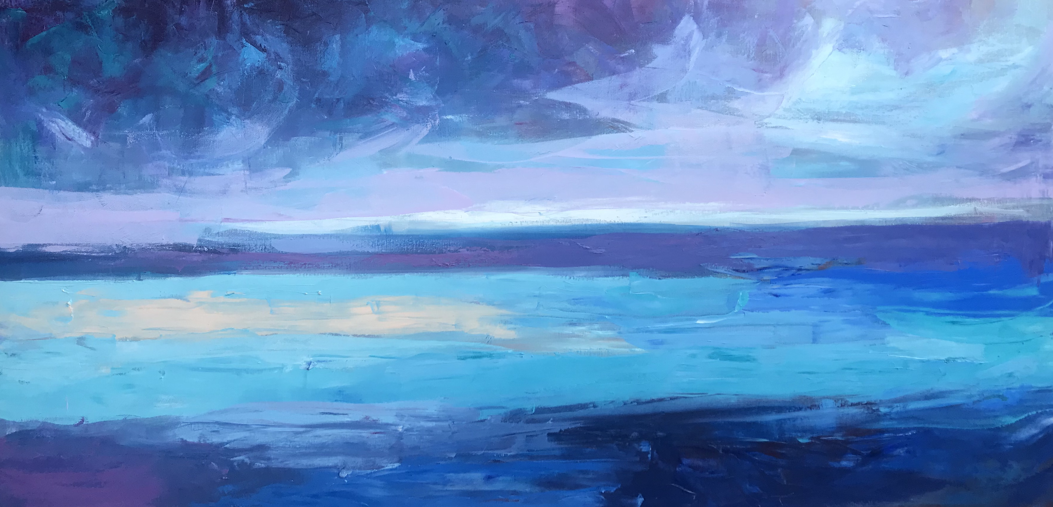 Sea 15, oil,canvas, 2020