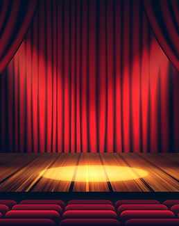 Stage and Curtain