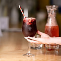 Red Sangria glass