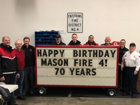 Mason County Fire District 4 Celebrates 70 Years of Community and Service