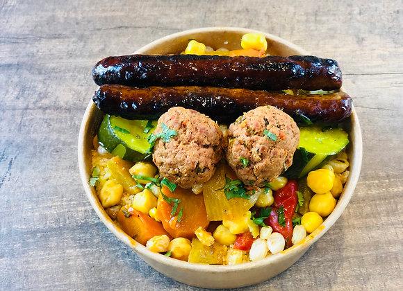 Kbox Gourmand Merguez et Boulettes