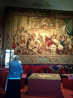 中世後半のゴブラン織りが見学できる博物館