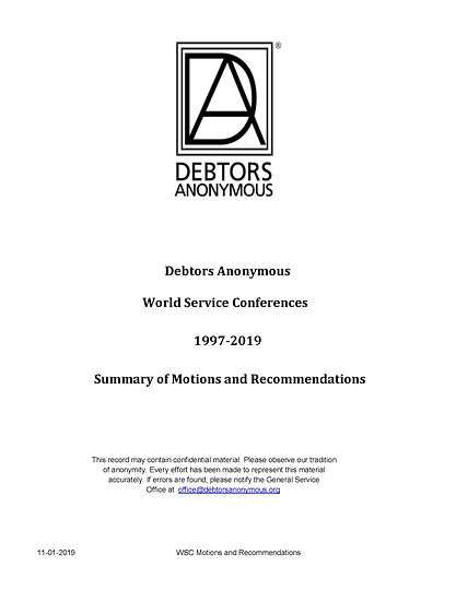 1997-2019 Motions and Recommendations fi