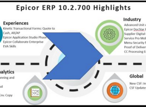 Epicor ERP 10.2.700 is Generally Available