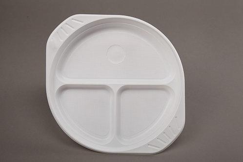Plastikteller geteilt
