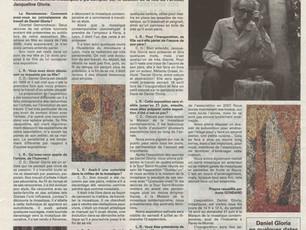 Article sur l'exposition des mosaïques à Paray-le-Monial