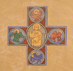 Christ bénissant et Tétramorphe