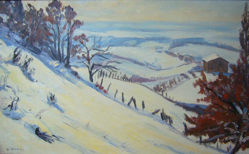 Environs de Lyon sous la neige