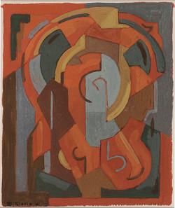 Composition-v.-1950-Gouache-sur-papier-16x13,5