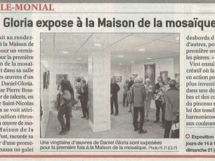 """Nouvel article """"Daniel Gloria à la Maison de la Mosaïque"""""""