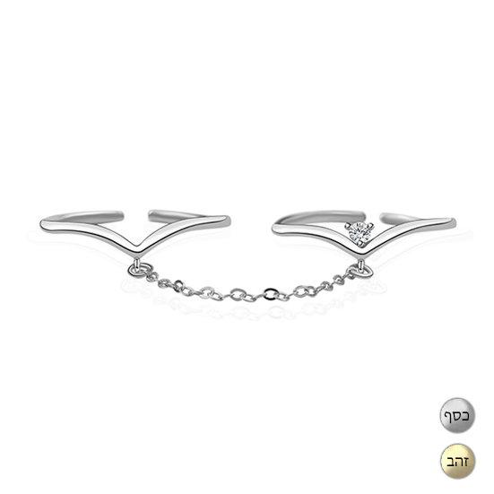 TIWIP.co.il   טבעת כסף 925 - טבעת אמה