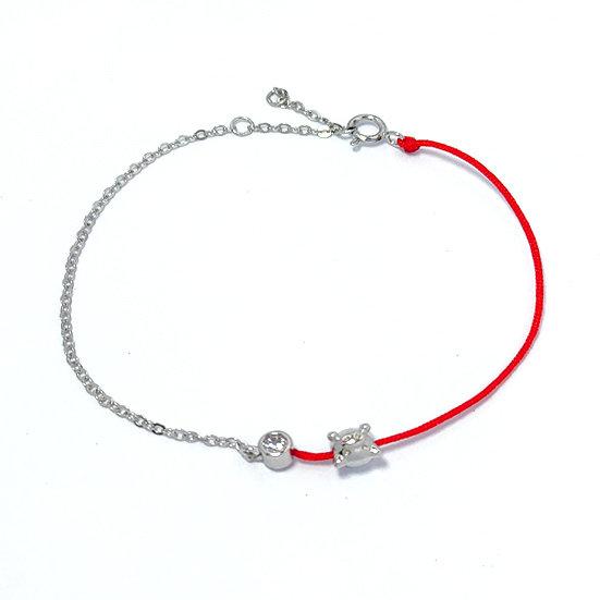 TIWIP.co.il | צמיד משי אדום וכסף 925 - צמיד רימון