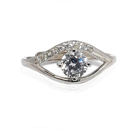 TIWIP.co.il | טבעת כסף 925 - טבעת אפריל