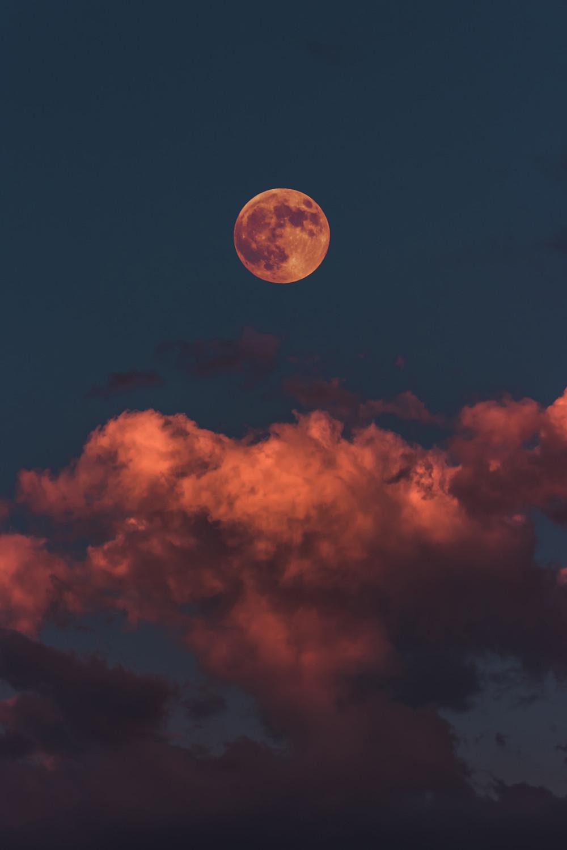 moon, colourful sky, emotions, feelings