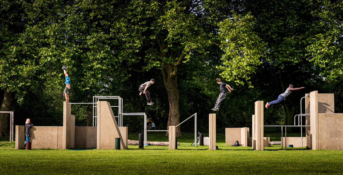 Parkour Park, Kings Lynn. A project funded by WREN