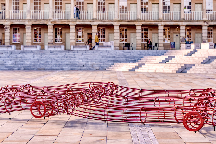 David Murphy's The Blanket at Piece Hall, courtesy of the Artist and ALMA ZEVI GALLERY