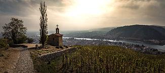 hermitage chapel rhone valley panorama.j