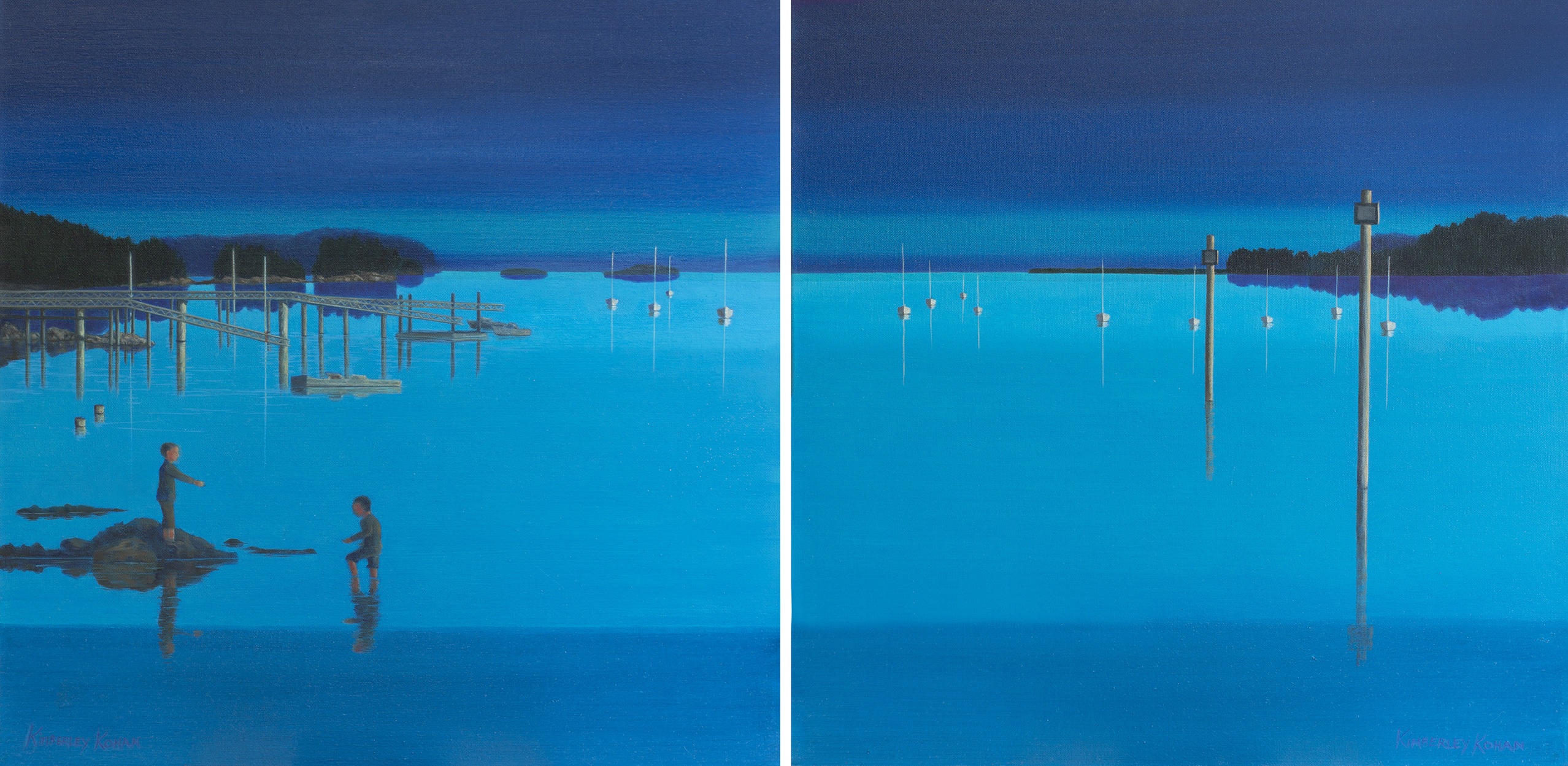 Evening Hues (Diptych)