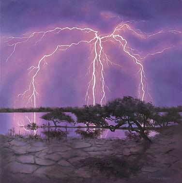 Light Show on the Mangroves, Oil, 76 X 7