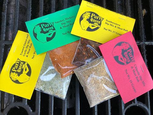 Summer Grilling Bundle (Hickory, Toasted Onion & Garlic, Southwestern, Chipotle)