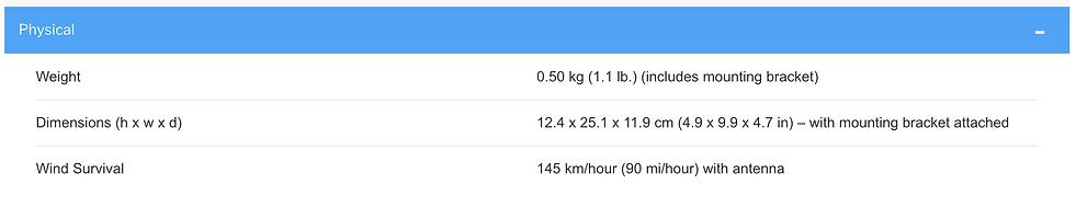 Thông số kĩ thuật củaCambium Bridge-in-a-Box