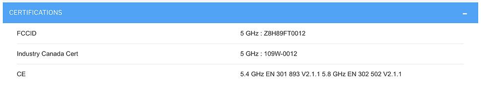 Specificationsof Cambium ePMP 1000 GPS Sync Radio