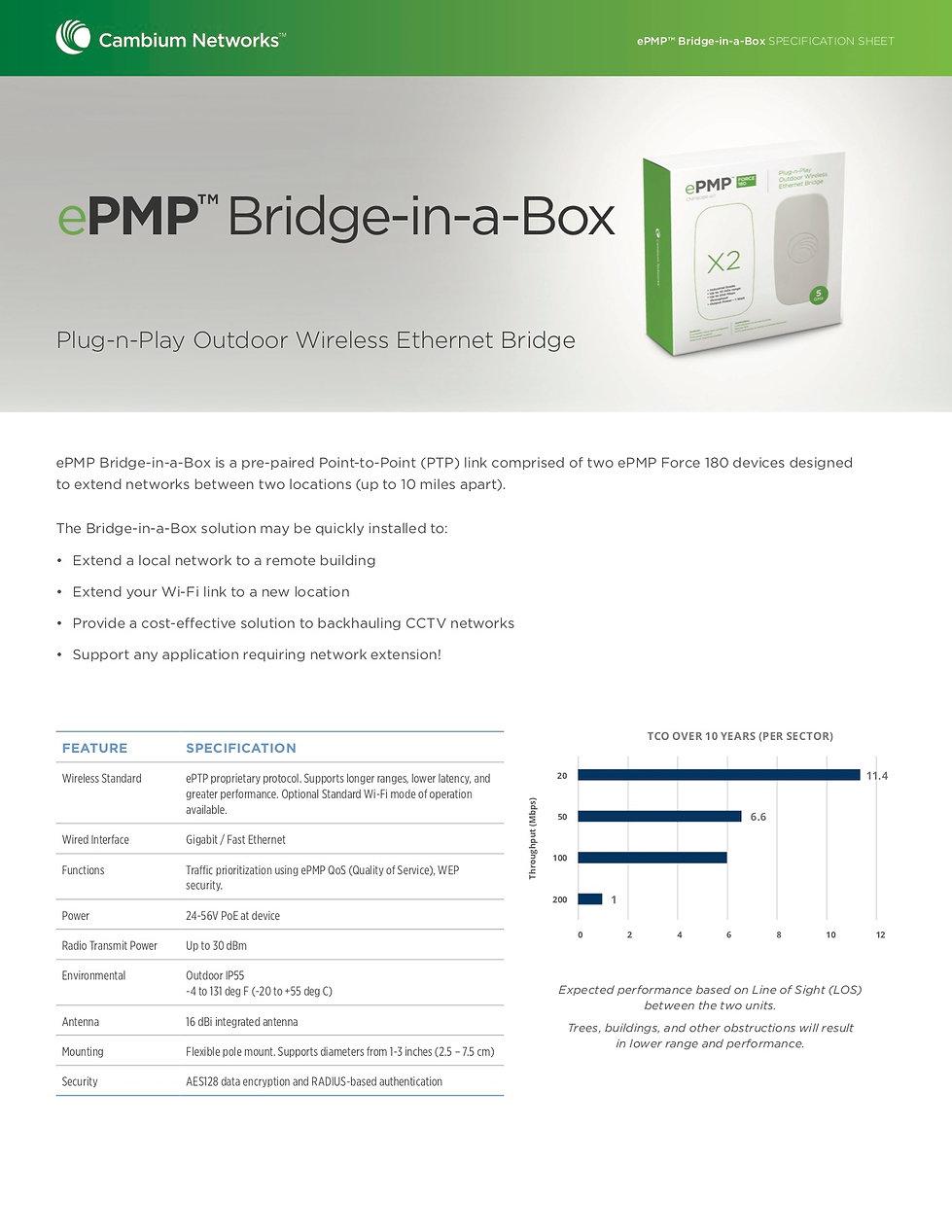 CambiumBridge-in-a-box Specification