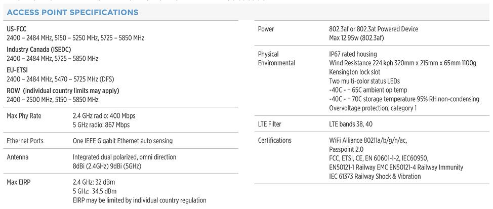 thông số kĩ thuật của cambium e510 spec