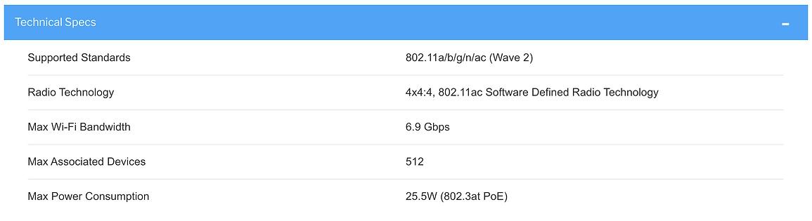 Thông số kĩ thuật Xirrus XH2-240 outdoor access point