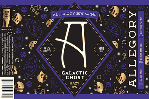 Galactic Ghost Hazy IPA - 4 Pack of 16oz Cans