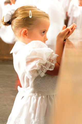 Zinnia's First Communion