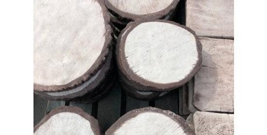 Krążek drewniany duży