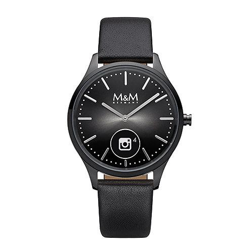 M&M Smartwatch - Edelstahl IP black, matt, poliert, 38 mm