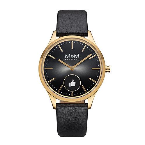 M&M Smartwatch - Edelstahl, IP gold matt/poliert, ø38 mm