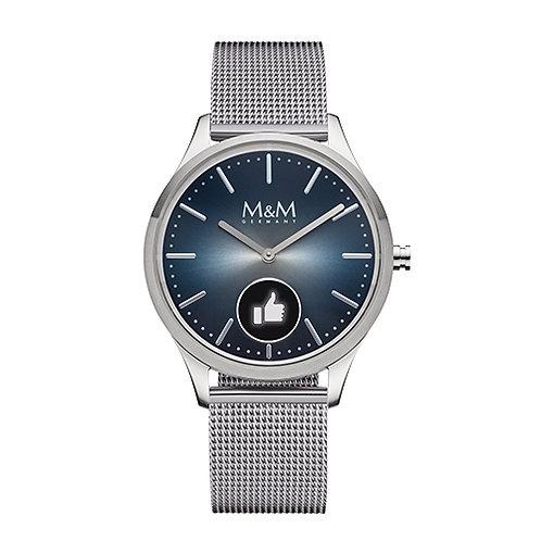 M&M Smartwatch - Edelstahl, silber/mesh, ø38 mm