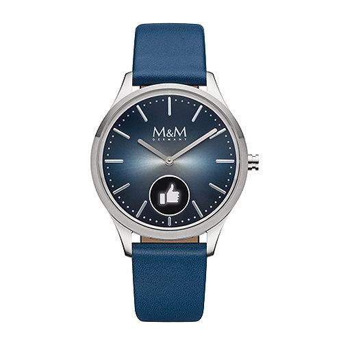 M&M Smartwatch - Edelstahl, matt/poliert, ø38 mm
