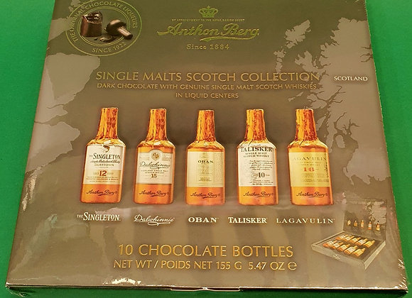 Anthon Berg Single Malt Scoth Liqueurs 10 Bottles