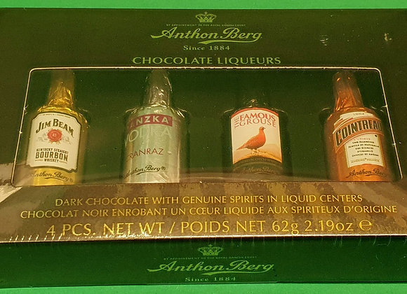 Anthon Berg Chocolate Liqueurs 4 Bottles