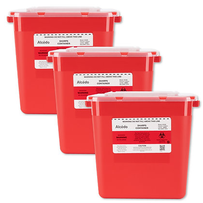 Alcedo Sharps Container 2 Gallon (3-Pack)