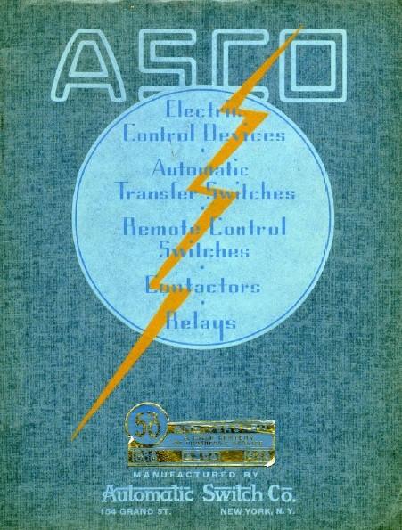 Обложка каталога ASCO 1938 года