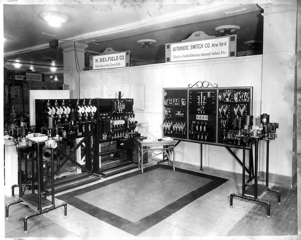 Стенд компании ASCO на энергетической выставке в Нью-Йорке, 1930 год