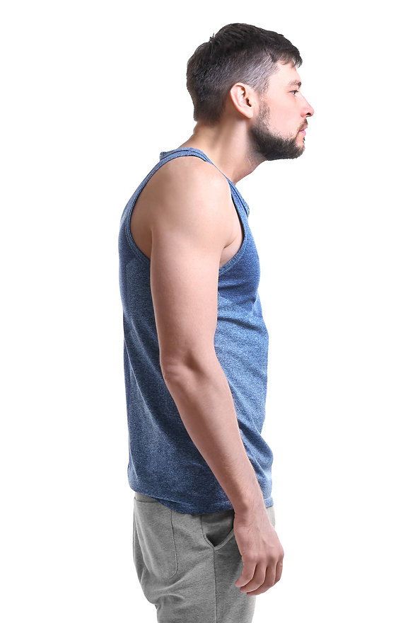 Posture concept. Man on white background