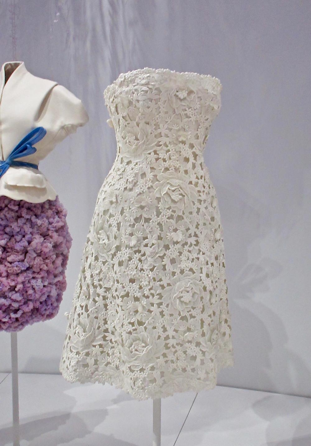 Yves Saint Laurent Off the Shoulder Dress Haute Couture Spring/Summer 1960