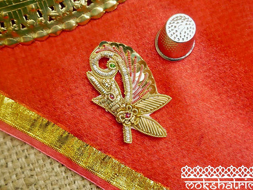 Motif Beaded Goldwork Applique MA762