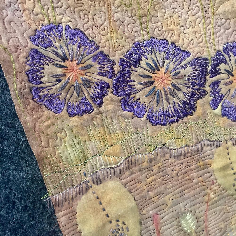 Festival of Quilts - Underground Overground by Caroline Nixon (Art Quilt)