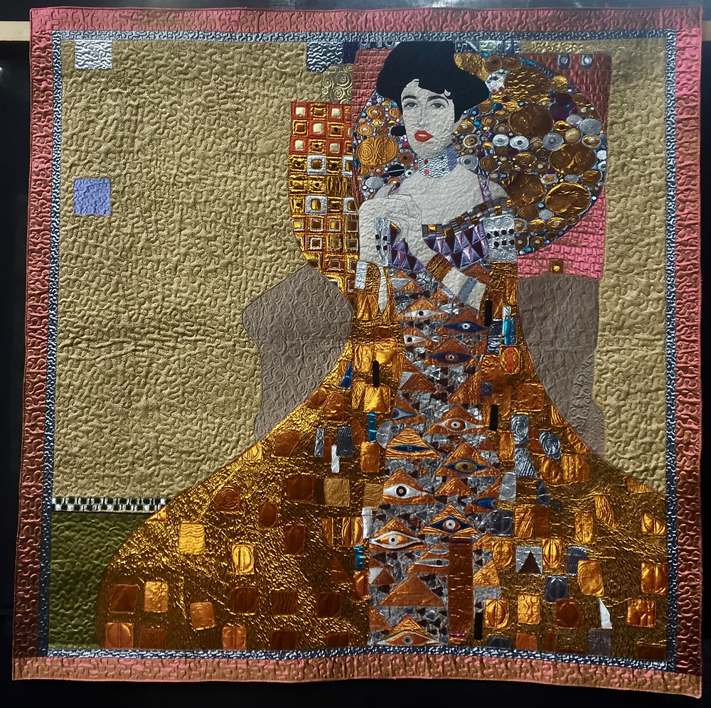Festival of Quilts - Gold Lady by Yan Liu (Art Quilt)