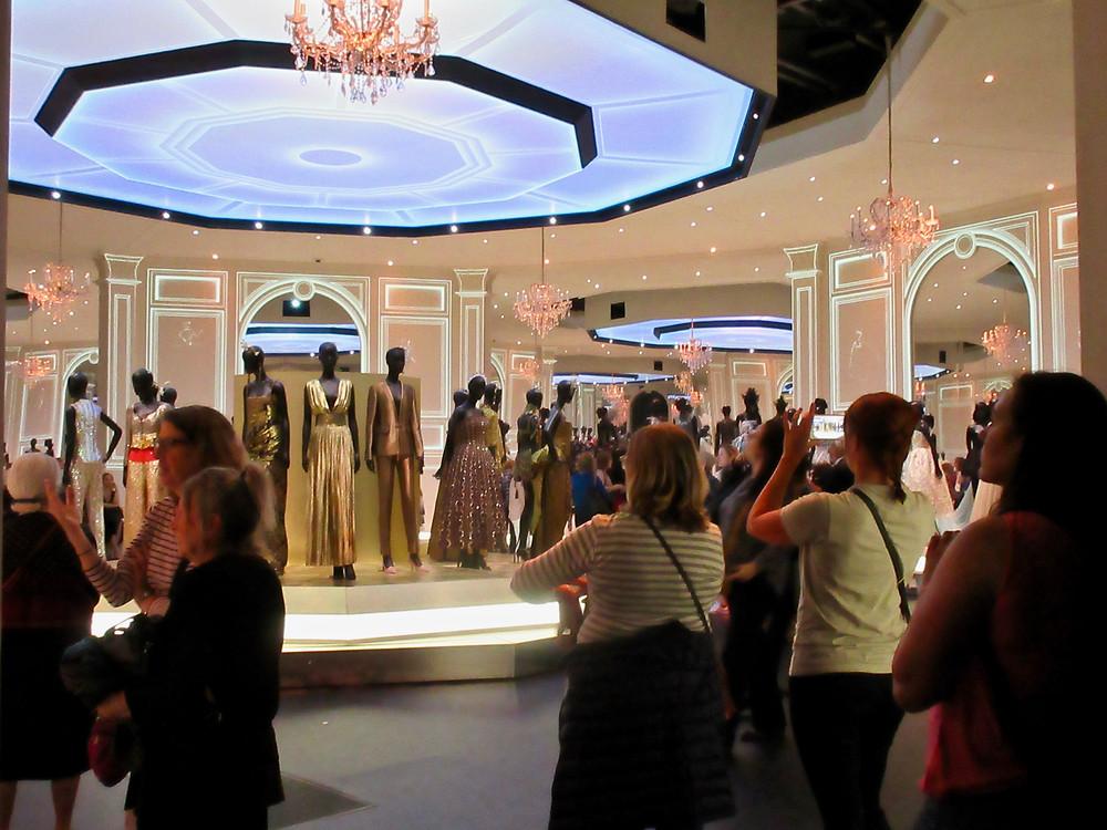 The evening dress room Dior: Designer of Dreams V&A 2019