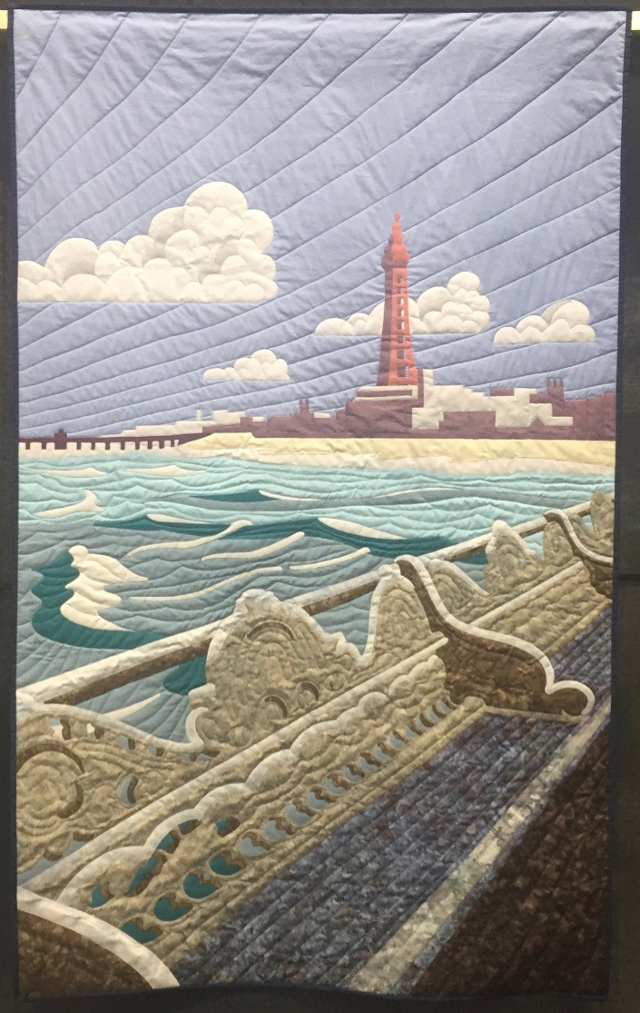Festival of Quilts Pictorial Quilt Incoming Tide by Mike Fitchett