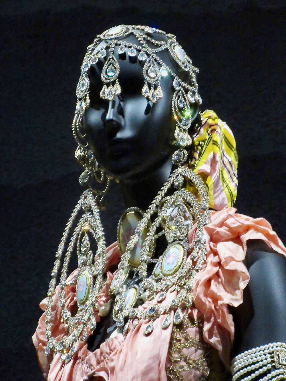 Close up of Headpiece and jewellery, John Galliano Haute Couture Autumn/Winter 1997