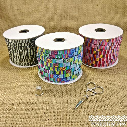 Tibetan Ethnic Flat Fabric Cord MA609